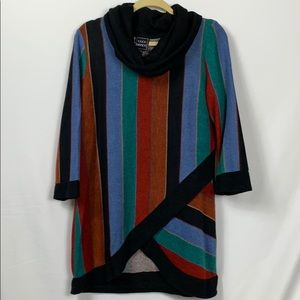 NWT Coco Bianco multi colored 3/4 sleeves size Lg.